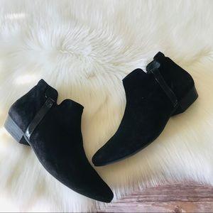 Paul Green Ankle Flat Heel Suede Leather Booties